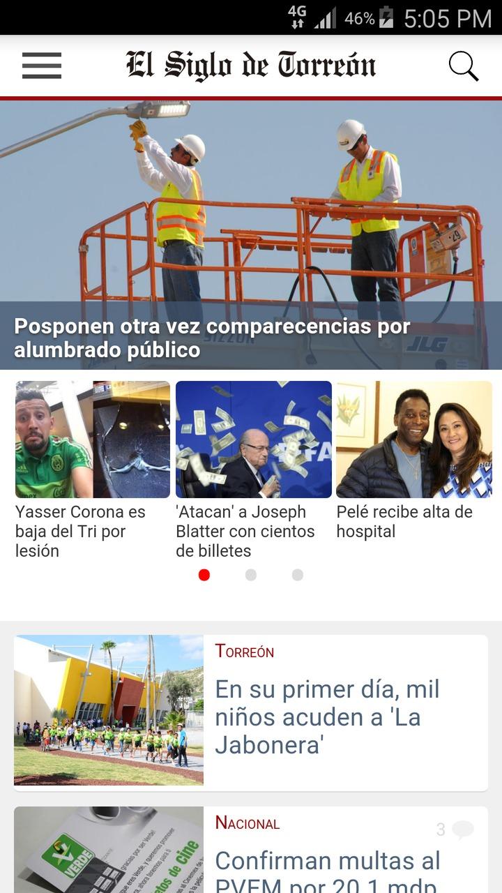Nueva aplicación de El Siglo de Torreón para Android