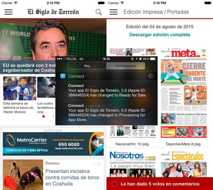 Nueva aplicación de El Siglo de Torreón para iOS