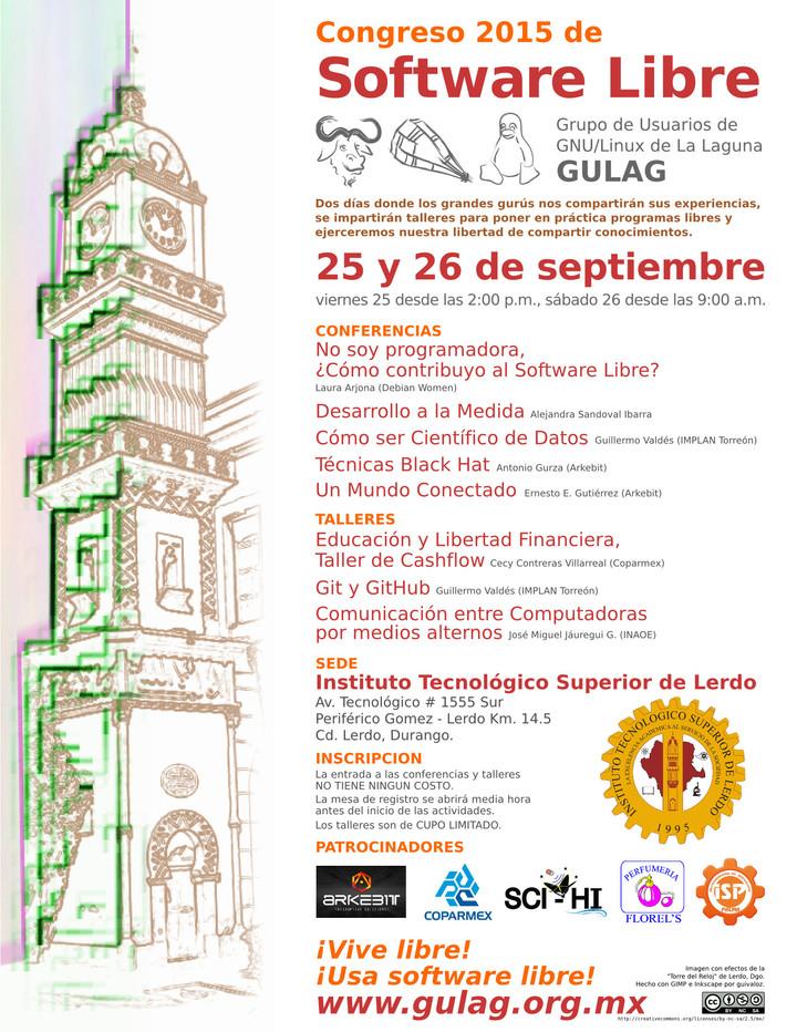 Congreso 2015 de Software Libre en #Torreón