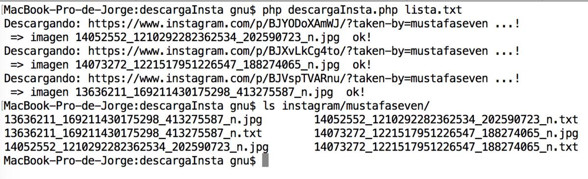Descargar imágenes de Instagram con PHP