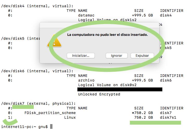 Leer partición de Linux ext4 en macOS