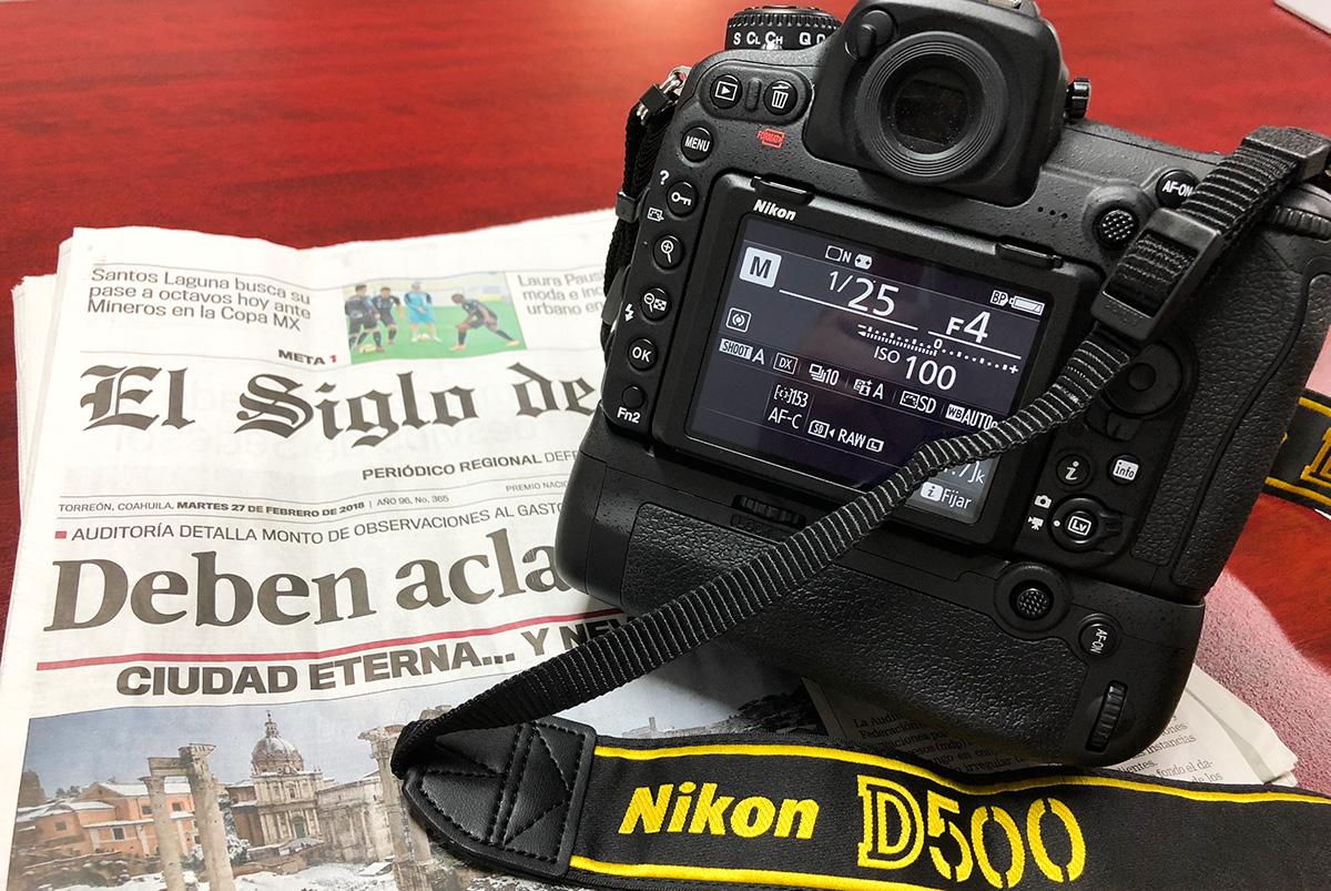 Desempaquetado de Nikon D500
