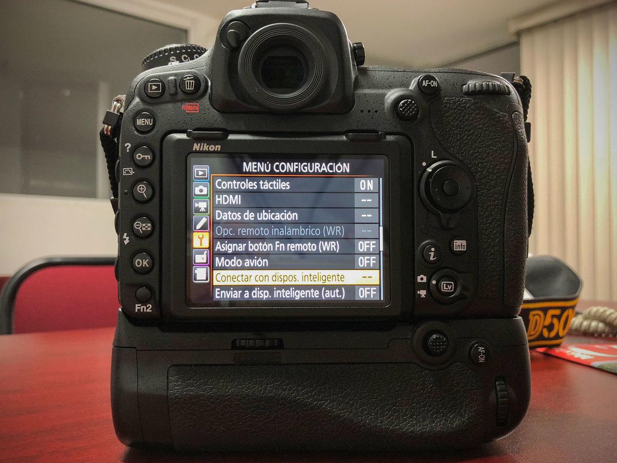 Conectar cámara Nikon D500 con iPhone