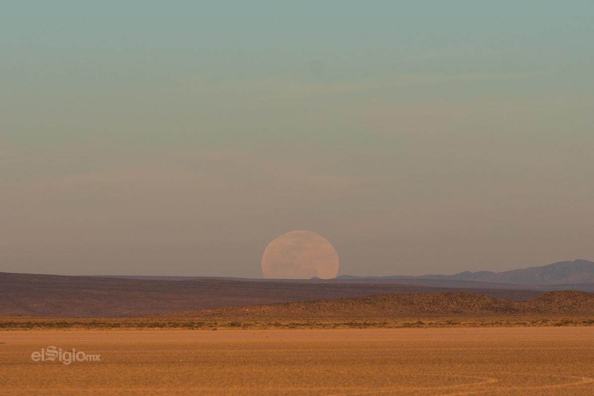 La superluna vista desde Coahuila