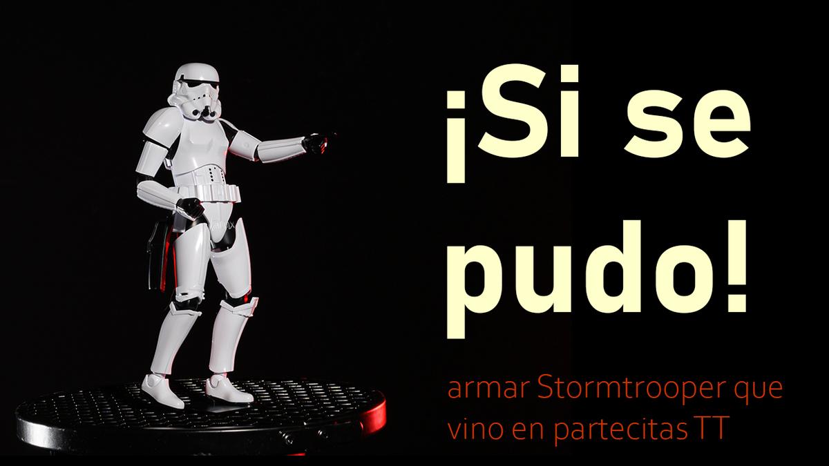 Siguiendo instructivo para armar Stormtrooper de Star Wars | Bandai | escala 1/12 figura de acción
