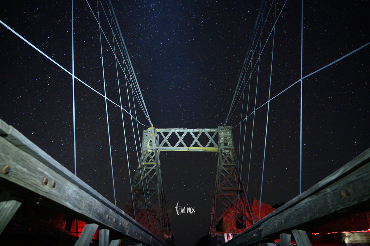 Fotos en el Puente de Ojuela