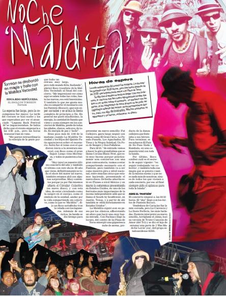 Portada de Espectáculos de El Siglo de Torreón del 20 de diciembre de 2009
