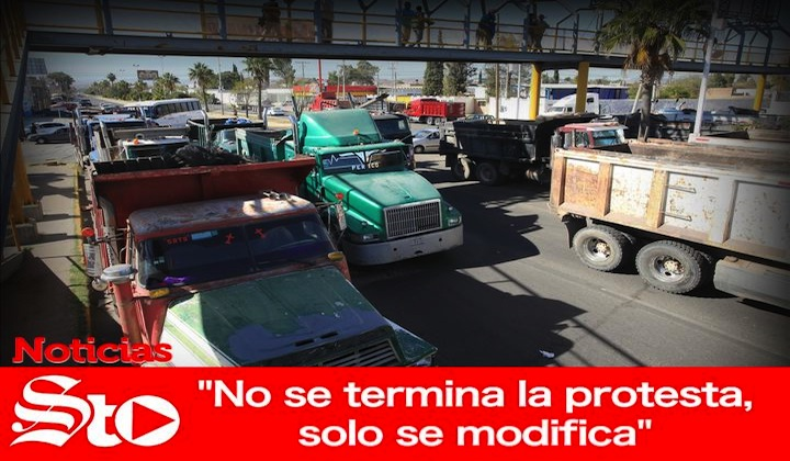 'No se termina la protesta, solo se modifica'