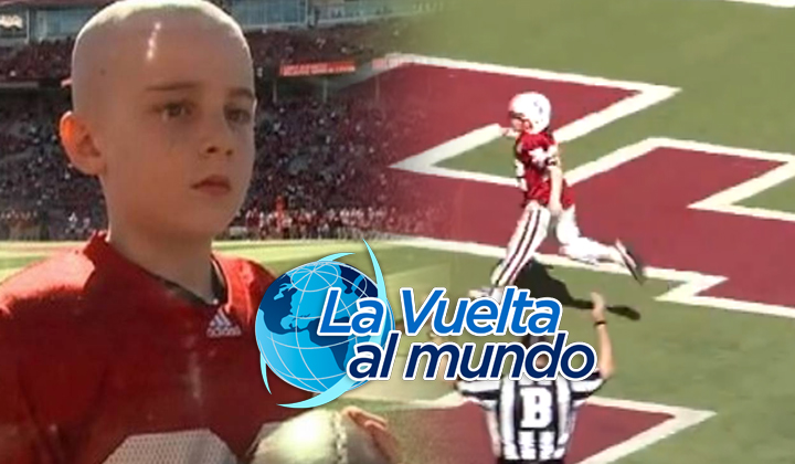 Niño que lucha contra el cáncer anota 'touchdown'