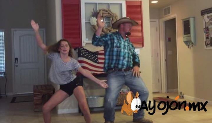 Papá vaquero sorprende con baile