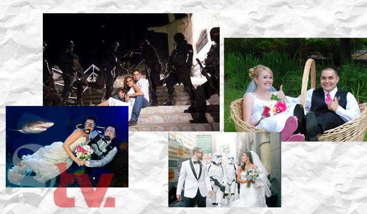 Las fotos de boda más excéntricas