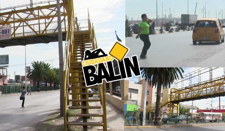 Puentes y ciudadanos 'balines' en Torreón