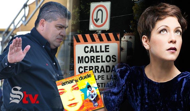 'Amarte duele', dice Riquelme a comerciantes de la Morelos