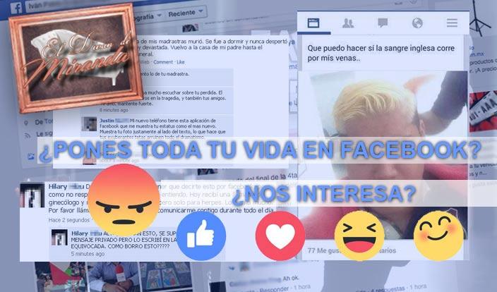 ¿Por qué pones toda tu vida en Facebook?