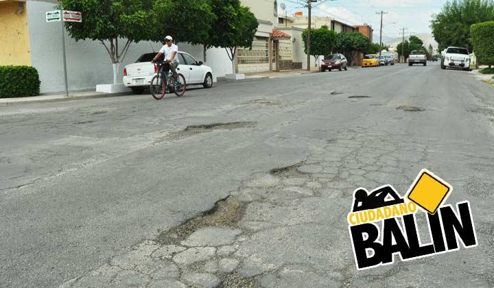 'Torean' baches por toda la Pámanes en Torreón