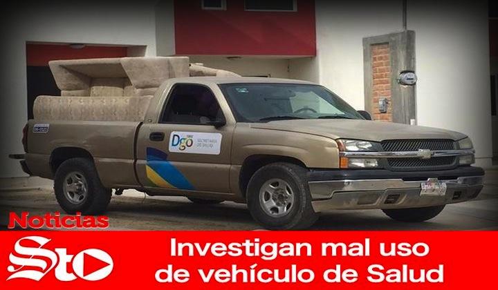 Investigan mal uso de vehículo de Salud
