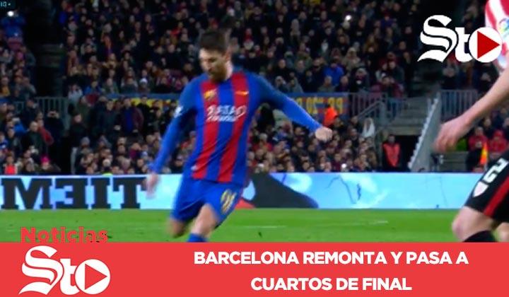 Barcelona remonta y pasa a cuartos de final