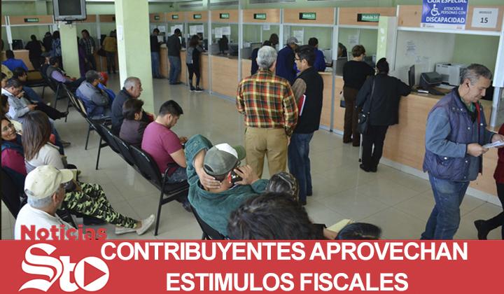 Contribuyentes aprovechan los estímulos fiscales