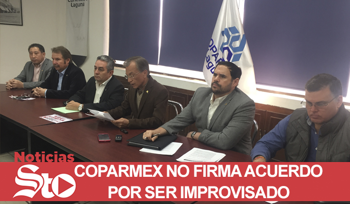 Comparmex declaró que no firmó acuerdo por ser  improvisado