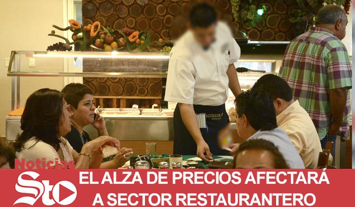 El alza de precios afectará a sector restaurantero