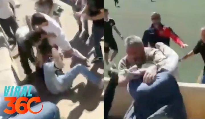 Brutal pelea entre padres en un partido de futbol infantil