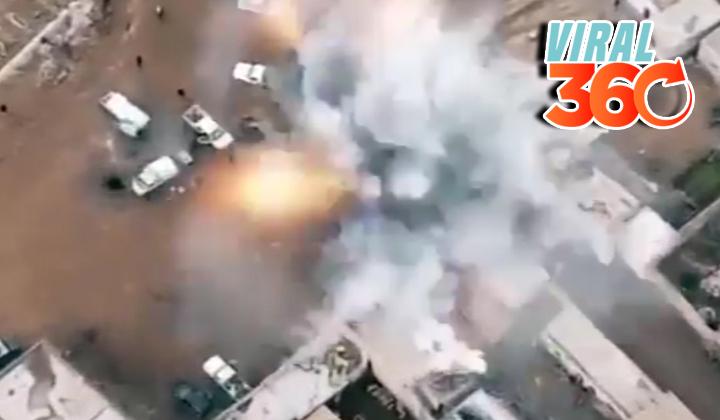 Habitantes de Alepo logran escapar de una gran explosión