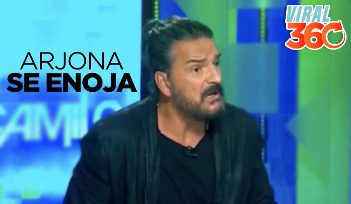 Ricardo Arjona se enoja y abandona entrevista en vivo