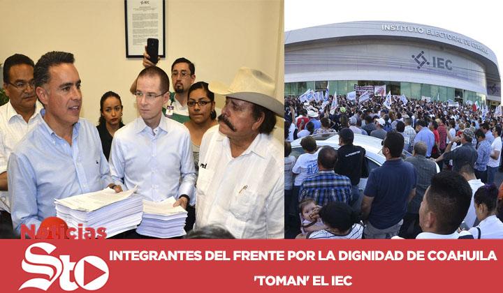 Frente por la Dignidad de Coahuila da detalles de impugnación