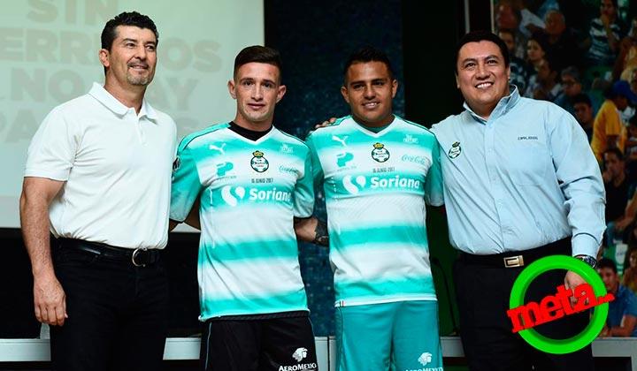 Presentan Santos a Javier Cortés y Brian Lozano