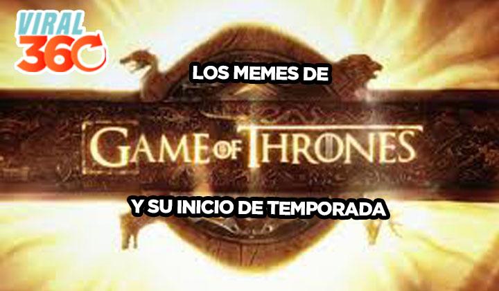 Game of Thrones y sus memes por penúltima temporada