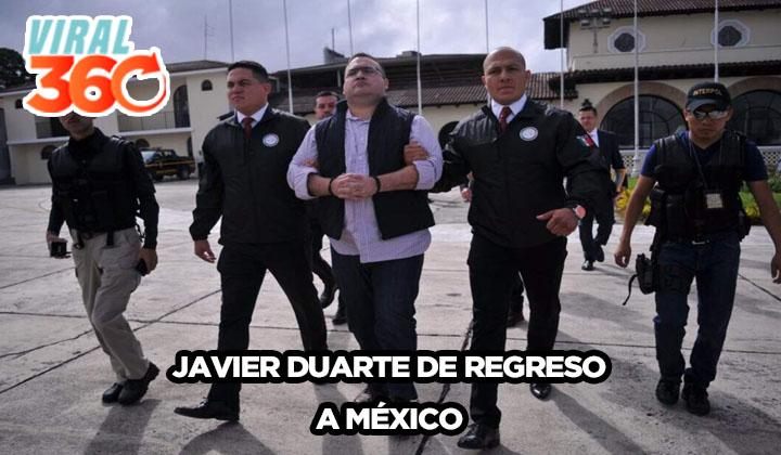 El regreso de Javier Duarte a México