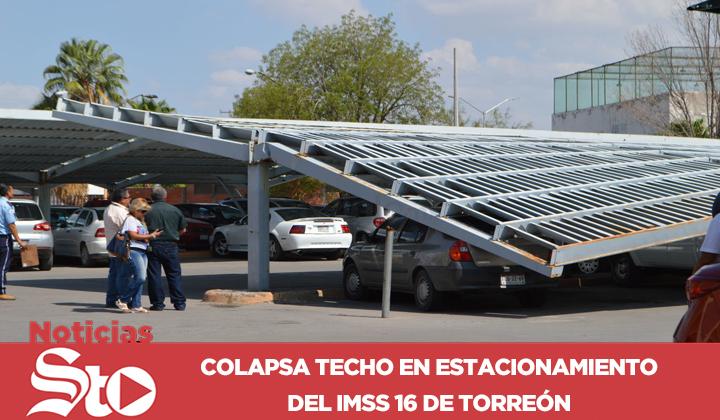 Techo colapsa en clínica 16 del IMSS en Torreón