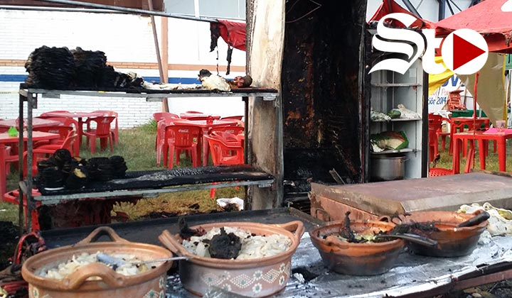 Se incendia restaurante en FeriAcero