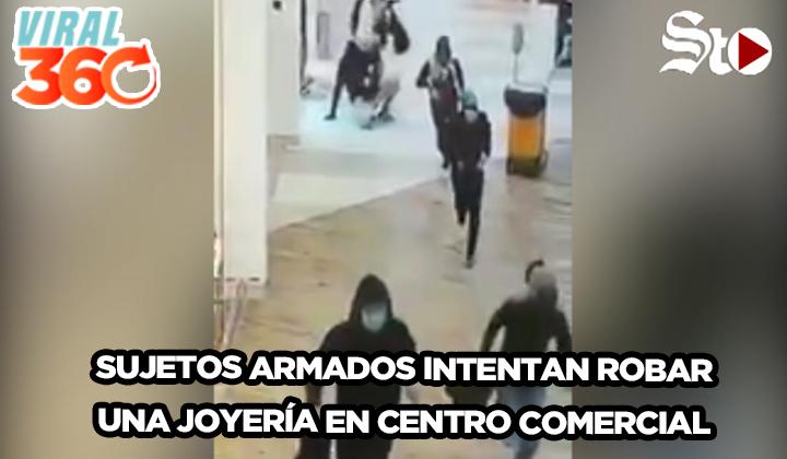 Pánico por asalto en joyería de Tamaulipas