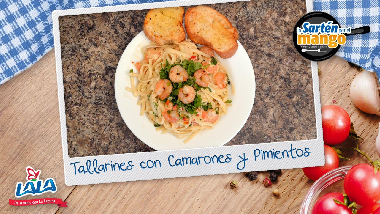 ¿Sabes cómo cocinar estos Tallarines con Camarón y Pimientos?