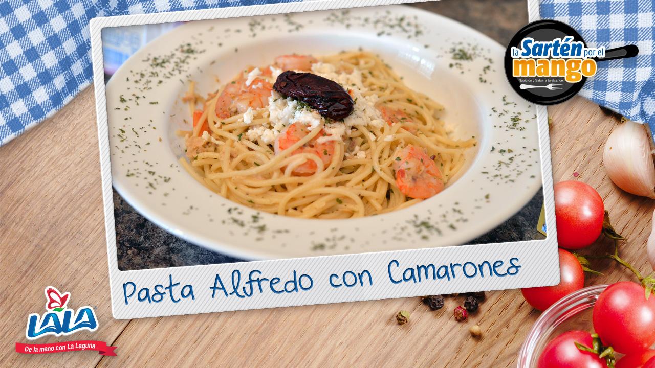 Lala te enseña a preparar esta rica Pasta Alfredo con Camarones