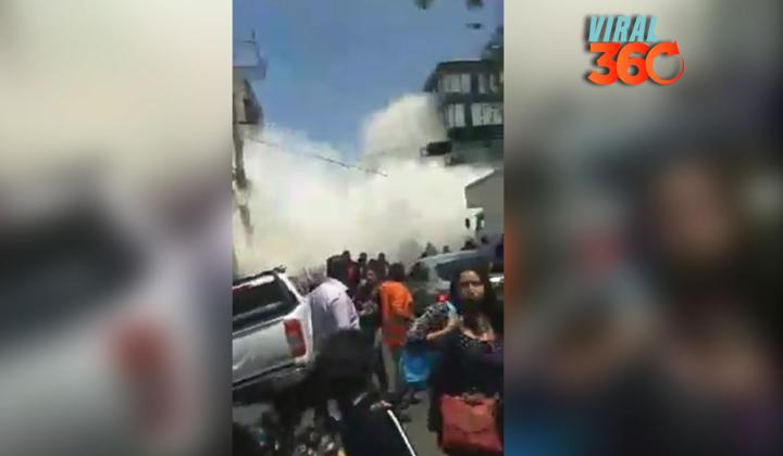Joven capta video de caída de edificio en la colonia Roma