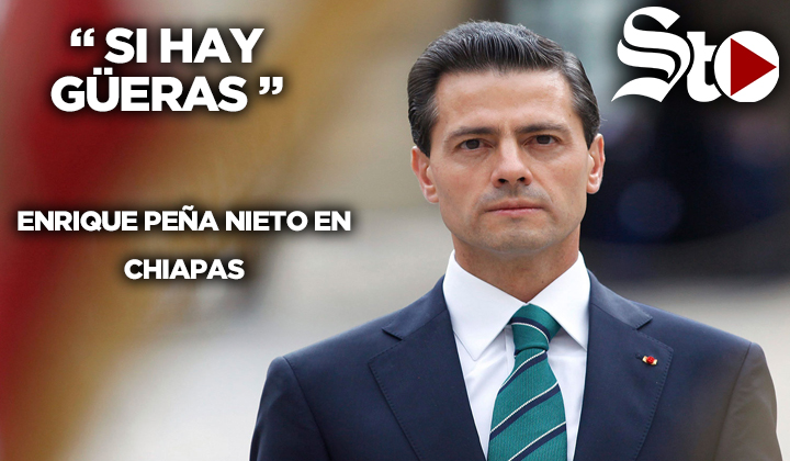 Peña Nieto se sorprende de ver 'güeros' en Chiapas