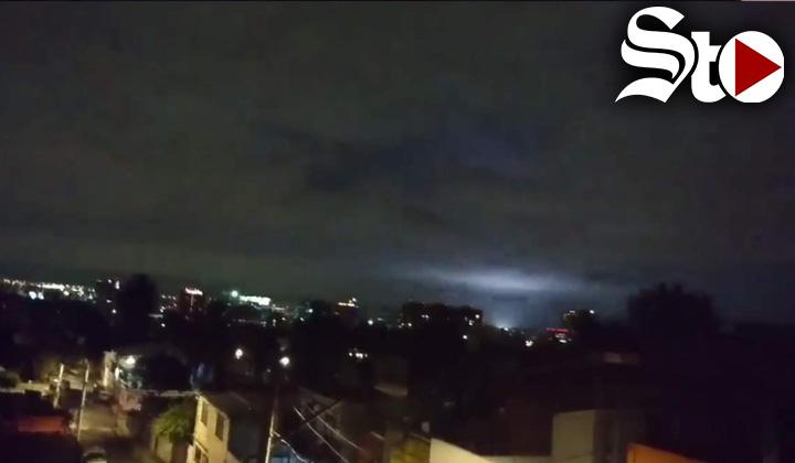 ¿Qué eran las luces que se vieron durante el terremoto?
