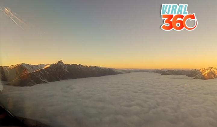 Piloto de un avión comparte VIDEO con una vista impresionante