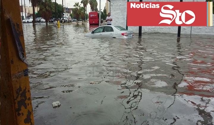 Lluvia inunda a varias regiones de La Laguna