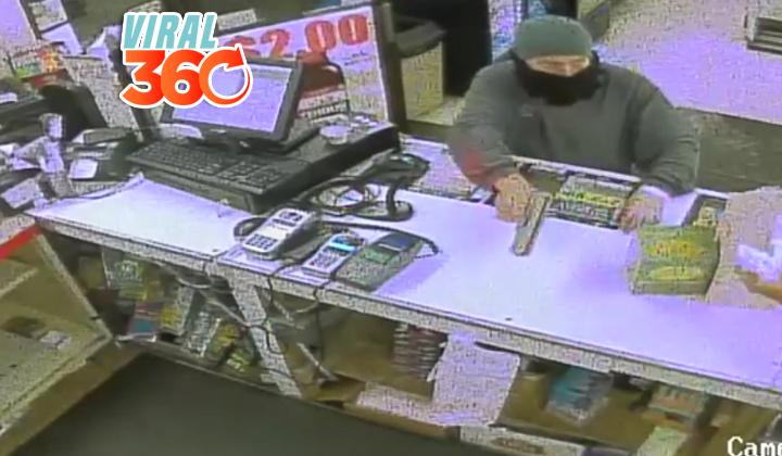 Intenta robar pero no esperaba que el cajero lo fuera a desarmar