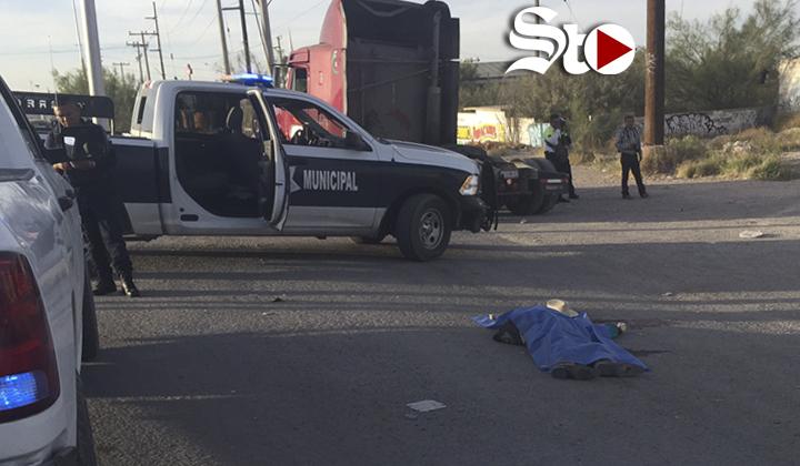Fallece peatón atropellado; camión le destrozó la cabeza
