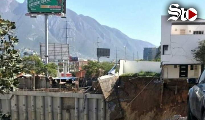 Derrumbe en Monterrey deja un muerto
