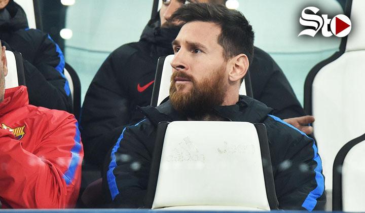 Messi, en la banca frente a Juventus