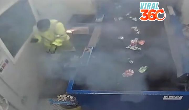 Explosión de una bengala advierte sobre el uso de pirotecnia