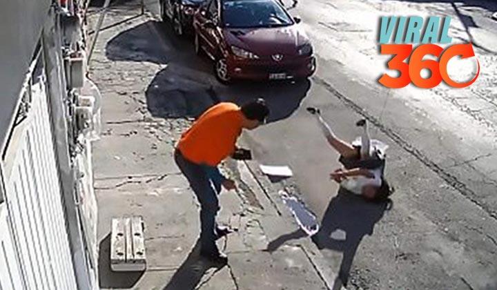 Camión jala cable por accidente y casi mata a menor de edad