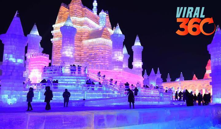 Inauguran el Festival de Hielo y Nieve de Harbin