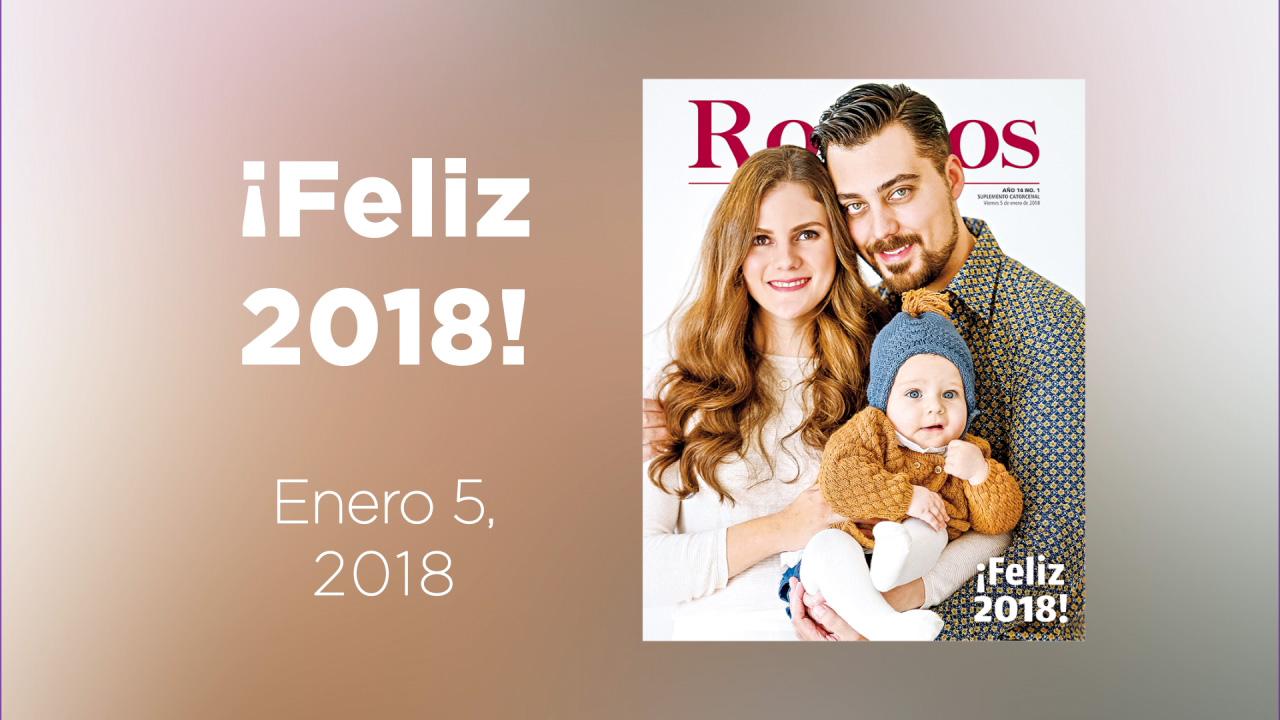 El equipo de Rostros te deseamos ¡Feliz 2018!