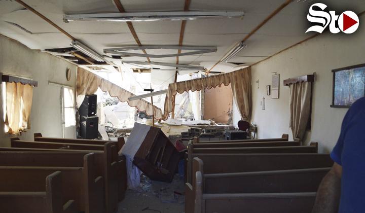 Se derrumba iglesia tras fuerte explosión
